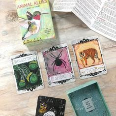 So I just did a Past-Present-Future spread with my Animal Allies Oracle Cards and YOU GUYS these cards are like magic I swear. I'm not even just saying that because I made them myself and I love them. ;) The message for me in these particular cards is so perfect for where I am right now. Spider: weave your own fate. Co-create with the universe. Jellyfish (upside-down): Ask for help (you haven't been asking for help). Flow flow flow (you haven't been flowing). Tiger: walk with passion and…