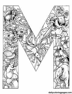 http://colorings.co/adult-coloring-pages-letters/ #Coloring, #Adult, #Pages