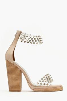 Janus Spike Platform  Woah. Shoes. Pretty on my feet. Unique. Love. Cute. Ladies women fashion styles
