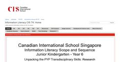Home - Information Literacy CIS TK - LibGuides at Canadian International School Singapore Information Literacy, International School, Singapore, Quotes
