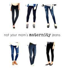 not your mom's maternity jeans (via Bloglovin.com )