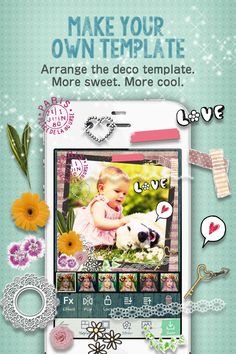 Deco template help you decorating a photo. And can arrange the template. Every elements is individual stickers. http//favs.jp/picosweet/
