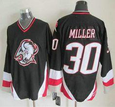 7f26c822f Buffalo Sabres Jersey 30 Ryan Miller 1996-97 Black CCM Vintage Throwback  Jerseys