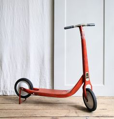Vintage Radio Flyer Red Kick Scooter.  I could really go fast, but faster when I got my bicycle.