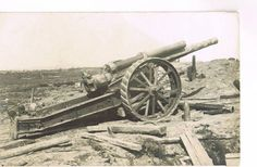 WWI-Photo-No-222-artillery-cannon-belgium-Wytschate