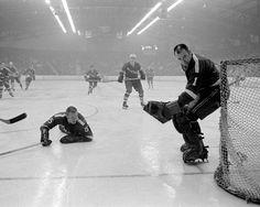 Ed Babiuk with Clinton Comets Rangers Hockey, Hockey Goalie, Ice Hockey, Sports Fanatics, Toronto Maple Leafs, Nhl, 1930s, Masks, Baseball