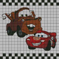 Lightning McQueen & Mater Crochet Pattern