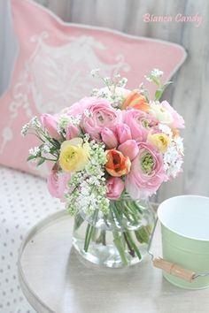 ranunculus, tulip and lilac love