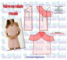 KiVita MoYo: Solero with crossed steering wheel.Sew tshirt knit t-shirts diy open Shoulder . Despejar el escote a unos 2 cm del Dress Sewing Patterns, Blouse Patterns, Clothing Patterns, Diy Clothing, Sewing Clothes, Fashion Sewing, Diy Fashion, Diy Dress, Sewing Techniques