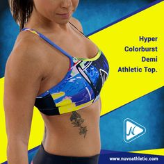 Add some funkiness to your athletic wear collection with this Hyper Colorburst Demi Athletic Top.  Now Available on http://www.nuvoathletic.com/  #nuvoathletic #onlineshopping #athleticwear #usa #texas ##womenswear #activewear #gymwear #fitness #ootd #sportswear #motivation #fashionista #gymmotivation #gymfashion #workoutclothes #gymclothes #apparel #sportsluxe #gymattire #activeapparel #fitnessapparel #style #gymclothing #lookgood #pants #tanktops #fitnesswear #fitchick #girlsthatsquat…