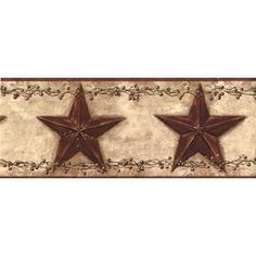 Wall Border - Country Stars - Burgundy $29.28 i want this for my kitchen =)