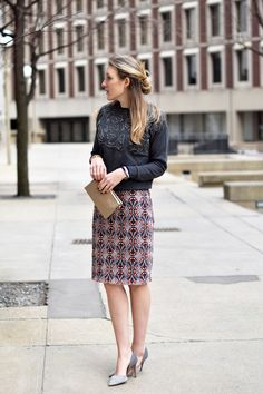 lace pencil skirt wi