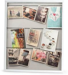 Vitrine Large Clothesline Photo Frame - White by Red Candy