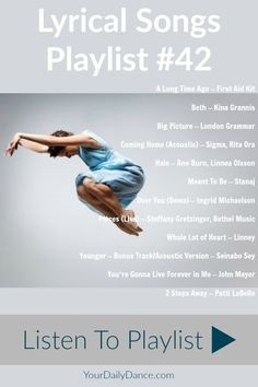 Lyrical Songs Playlist 42 – Lyrical Songs Playlist 42 -,Hudba Lyrical Playlist For Dance Related posts:mattia( Lyrical Dance Songs, Good Dance Songs, Dance Music Playlist, Jazz Dance, Best Dance, Song Playlist, Dance Choreography, Ballroom Dancing, Contemporary Dance Songs