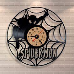 Spiderman baby vinyl wall record clock by Vinylastico on Etsy