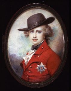 George IV, Prince of Wales, later the Prince Regent and then King of The United Kingdom of Great Britain and Hanover; by Richard Cosway, c. 1780-1782. He was the eldest son of King George III of Great Britain.