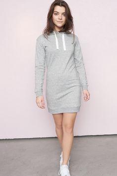 Dressed to CHILL - Long Sleeve Hooded Sweatshirt Dress