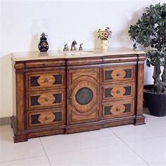 """Check out the Legion Furniture LF66B 60"""" Single Sink Vanity in Multi-brown - Vanity Top Included priced at $1,798.50 at Homeclick.com."""