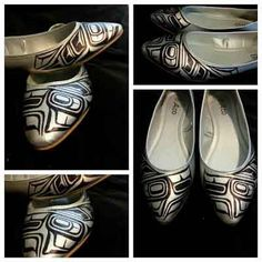 Alicia's Ink Shoes-These are beautiful! What a talented artist!