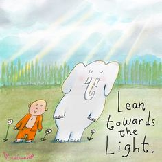 Today's Doodle: lean towards the light Baby Buddha, Little Buddha, Buddah Doodles, Buddha Thoughts, Positive Thoughts, Soul Shine, Zen Doodle, Uplifting Quotes, Happy People