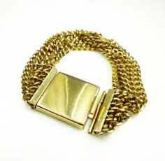Vintage Bracelet Reinad NY Gold Chain Chunky by zephyrvintage, $46.00