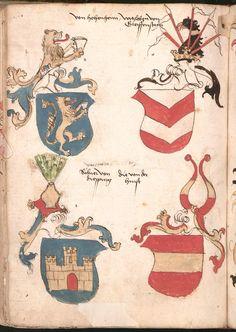 Wernigeroder (Schaffhausensches) Wappenbuch Süddeutschland, 4. Viertel 15. Jh. Cod.icon. 308 n  Folio 190v