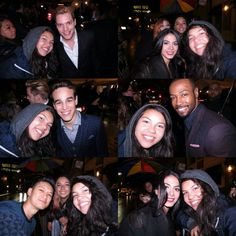 """- Fans with the cast at Toronto Film Festival (cr: @tatianacordero)"""