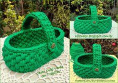 Crochet Basket - Chart ❥ 4U hilariafina http://www.pinterest.com/hilariafina/