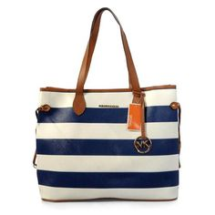 Perfect Michael Kors Striped Lace Large Blue Totes, Perfect You