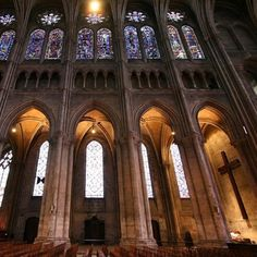 Chartres Cathedral - built in 1145, world heritage site, filled with 12th and 13th century stained glass windows