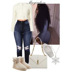 Untitled #469 by mayiralove on Polyvore featuring polyvore, fashion, style, UGG Australia, Yves Saint Laurent, Audemars Piguet and clothing