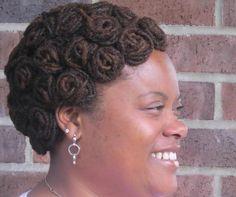 locs pin curls