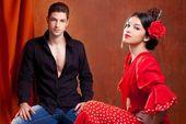 Casal de dançarino de flamenco cigano da Espanha — Imagem de Stock #10031853