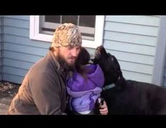 A US soldier returns to the states and a happy reunion with his dog, who was cared for by a family volunteering with the non-profit group Dogs on Deployment, that helps members of the military with their pets.