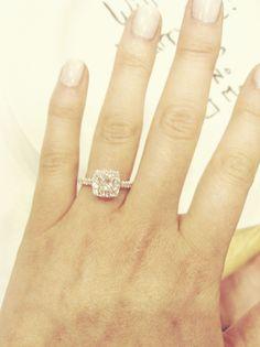 Princess Cut Halo Engagement Ring :)