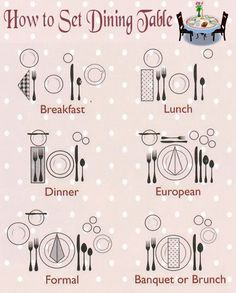 How to Set Dining Table  sc 1 st  Pinterest & Casual or Formal Table - Hereu0027s an easy Cheat Sheet from House of ...