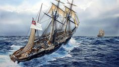 CSS Alabama gives chase to a Clipper Ship
