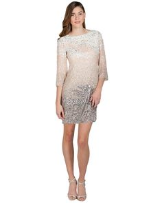 SC1339 Ombre Sequin Tunic Cocktail Dress by Badgley Mischka