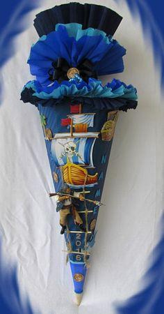 handgefertigte Zuckertüte - Schultüte - Für coole Jungs - Pirat