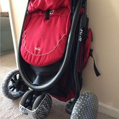 And use shower caps to prevent the dirty wheels of your folded-up stroller from making a mess.