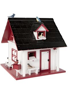 Wooden Advent Calendar: Bird Cottage Advent Calendar