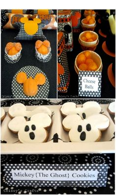 """Cute ideas for your own """"Mickey's Not So Scary Halloween Party"""" at Home!"""