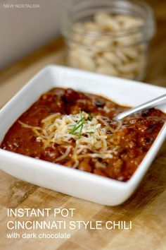 This Instant Pot Cincinnati Chili with Dark Chocolate has been a family favorite for a while now. This Instant Pot version is so easy with complex flavor. Healthy Meal Prep, Easy Healthy Recipes, Whole Food Recipes, Easy Meals, Cincinnati Chili, Dark Chocolate Recipes, Pressure Cooking Recipes, Canned Tomato Sauce, Best Instant Pot Recipe