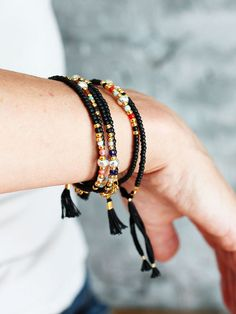 Bracelet en perles Perles Bracelet rocaille perle gland