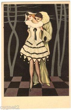 Postcard Italian Pierrette Pierrot Artist Nanni Fernet Branca | eBay