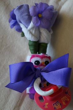 Mommy to Be Girl Owl Corsage Baby Shower Sock by JeannaSadorra, $12.00
