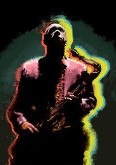 Jhon Coltrane Poster By Jonathan Parra Diaz