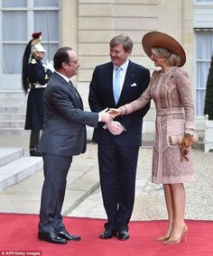 Royals & Fashion - Meeting with François Hollande at the Elysée Palace
