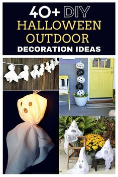 Halloween is just around the corner, and everybody is planning on unleashing their cutest and creepiest Halloween décor to trick their homes and make the entire neighborhood stop. Here are best DIY outdoor Halloween decorations that you should try out. All of these decorations are easy to make, some of the projects also a little challenge and will make your Halloween holiday unforgettable. #halloween #diyhalloween #halloweendecorations #halloweendecor #halloweencrafts
