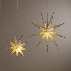 Silver Glitter 9-Point Star Paper Lantern | World Market